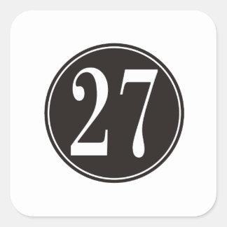 #27 Black Circle Square Sticker