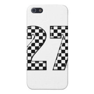27 checkers flag number cover for iPhone SE/5/5s