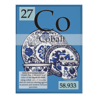 27. Cobalt (Co) Periodic Table of the Elements Poster