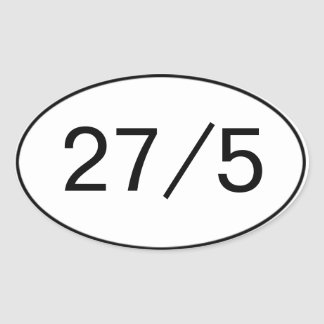 27 en el pegatina 5