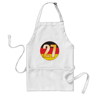 27 GERMANY Gold Adult Apron