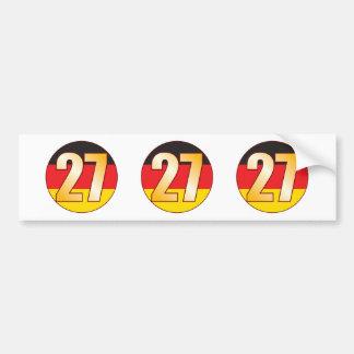 27 GERMANY Gold Bumper Sticker