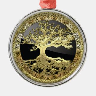 [27] Golden Celtic Tree of Life Christmas Ornament
