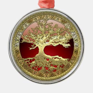 [27] Golden Celtic Tree of Life Christmas Tree Ornaments