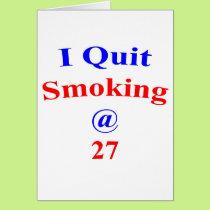27 I Quit Smoking Card