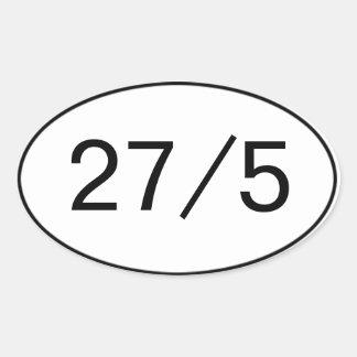 27 in 5 Sticker