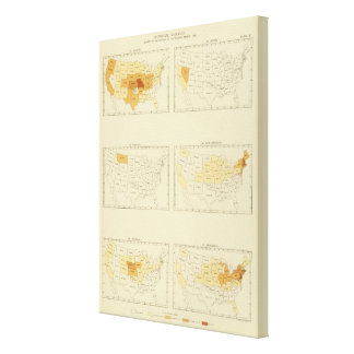 27 Interstate migration 1890 MONJ Canvas Print