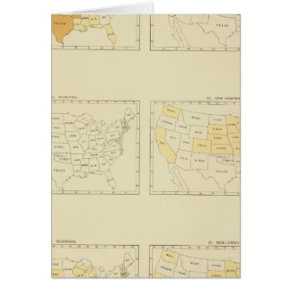 27 Interstate migration 1890 MONJ Greeting Card
