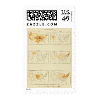 27 Interstate migration 1890 MONJ Postage Stamps