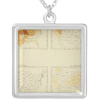 27 Interstate migration 1890 MONJ Silver Plated Necklace