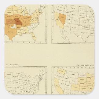 27 Interstate migration 1890 MONJ Square Stickers