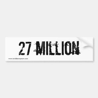 27 million bumper stickers