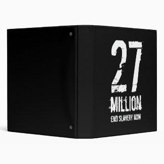 27, million, end slavery now binder