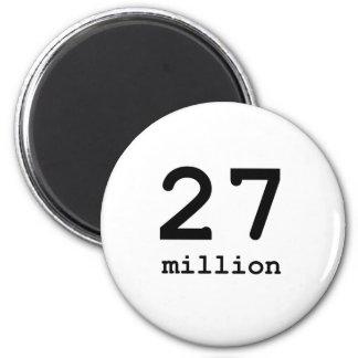 27 millones imán redondo 5 cm