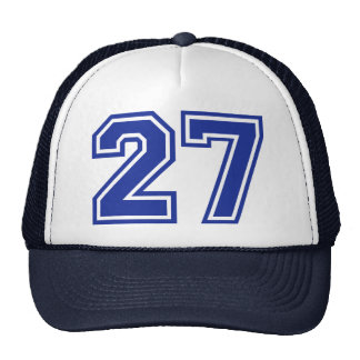 27 - number hats