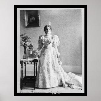 27 Portrait Mrs. McKinley Poster