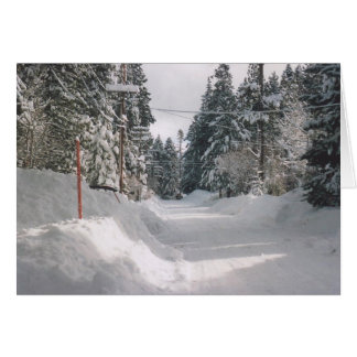 27. Snowy Olympic Road, Tahoe City Card