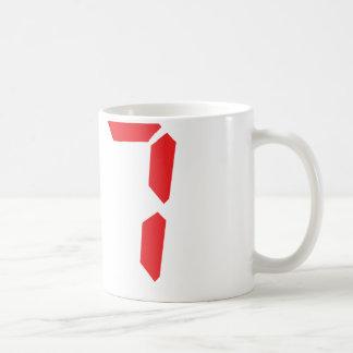 27 twenty-seven red alarm clock digital number coffee mug