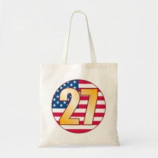 27 USA Gold Tote Bag