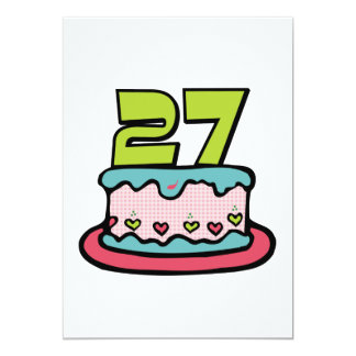 27 Year Old Birthday Cake Card
