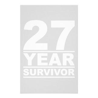 27 year survivor stationery