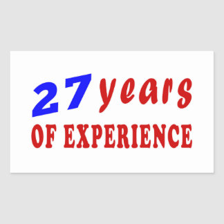27 years of experience sticker