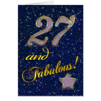 27mo cumpleaños para alguien fabuloso tarjeta de felicitación