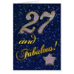 27mo cumpleaños para alguien fabuloso tarjeton