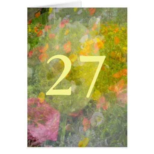 27mo Cumpleaños Tarjeta De Felicitación
