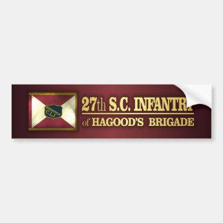 27mo Infantería de Carolina del Sur (BA2) Pegatina Para Auto