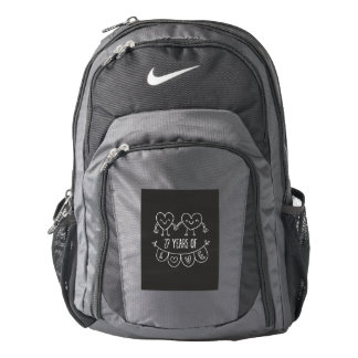 27th Anniversary Gift Chalk Hearts Backpack