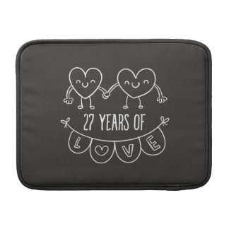 27th Anniversary Gift Chalk Hearts Sleeve For MacBook Air