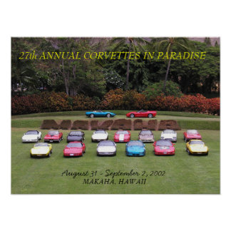 27th Annual Corvettes in Paradise Poster