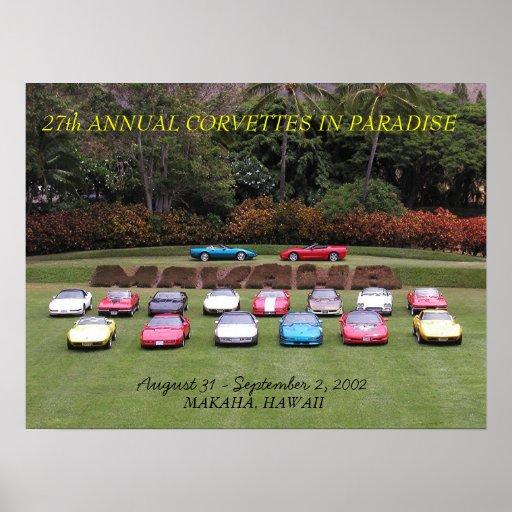 27th Annual Corvettes in Paradise Print