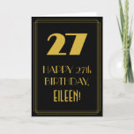 "[ Thumbnail: 27th Birthday ~ Art Deco Inspired Look ""27"" & Name Card ]"