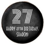 "[ Thumbnail: 27th Birthday - Art Deco Inspired Look ""27"", Name ]"