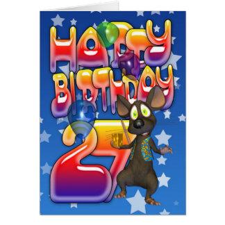 27th Birthday Card Happy Birthday