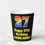 [ Thumbnail: 27th Birthday: Colorful, Fun, Exciting, Rainbow 27 ]
