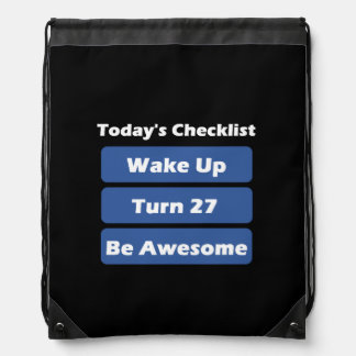 27th Birthday Drawstring Backpack