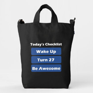 27th Birthday Duck Bag
