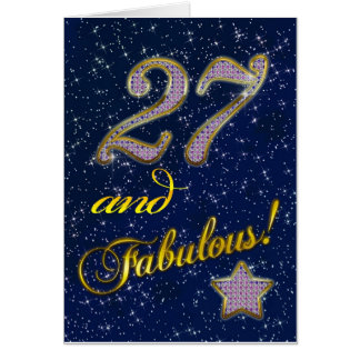 27th birthday for someone Fabulous Greeting Cards