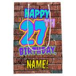 [ Thumbnail: 27th Birthday: Fun, Urban Graffiti Inspired Look Gift Bag ]