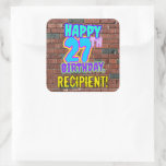 [ Thumbnail: 27th Birthday – Fun, Urban Graffiti Inspired Look Sticker ]