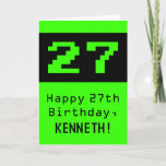 """[ Thumbnail: 27th Birthday: Nerdy / Geeky Style """"27"""" and Name Card ]"""