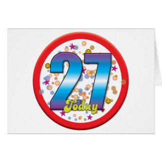 27th Birthday Today v2 Greeting Cards