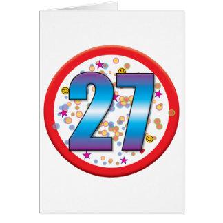 27th Birthday v2 Card