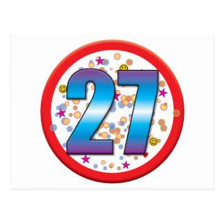 27th Birthday v2 Post Cards