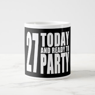27th Birthdays Parties : 27 Today & Ready to Party 20 Oz Large Ceramic Coffee Mug