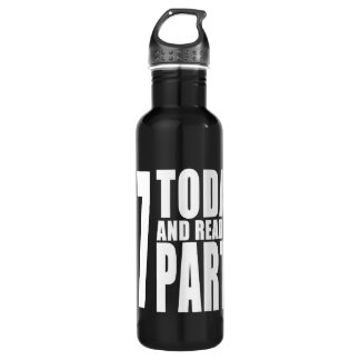 27th Birthdays Parties : 27 Today & Ready to Party 24oz Water Bottle