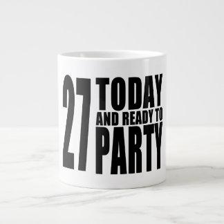 27th Birthdays Parties : 27 Today & Ready to Party 20 Oz Large Ceramic Coffee Mug